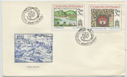 CZECHOSLOVAKIA 1977 Historic Bratislava Set Of 2 On FDC.  Michel 2418-19 - FDC