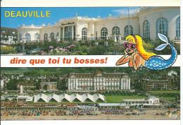 DEAUVILLE (14 Calvados) Multivues Casino Hôtel Royal - Illustration De Sirène (circulé 1996 Voir Détails 2scan) MW902 - Deauville