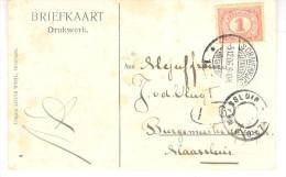 5.12.06 Martinstempel ´s-Gravenhage 1 Op Prentkaart Naar Maassluis - Covers & Documents