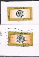 2006 - ITALIA - PRIORITARIA DA € 0,60 - TIPO CON MILLESIMO 2006 E TIPO SENZA MILLESIMO - USATO SU FRAMMENTO DI CARTA. - 2001-10: Usati