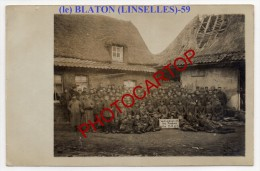 LE BLATON-LINSELLES-Carte Photo Allemande-Guerre14-18-1WK-Frankreich-France-59-Flandres- - France