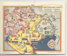 Garda Tirolo Trafoi Merano Bolzano Vipiteno Brunico Udine Gorizia Dobiaco Campiglio Piacenza Fidenza Parma Spezia Etc. - Carte Geographique