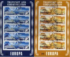 EUROPA CEPT GIBRALTAR 1988 - N° 555 à 558 Se Tenant + FEUILLE  - OBLITERE RARE COTE 50E - 1988