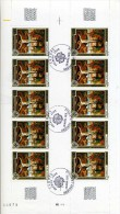 EUROPA CEPT GIBRALTAR 1975 - N° 243 Se Tenant + FEUILLE  - OBLITERE RARE COTE 61E - 1975