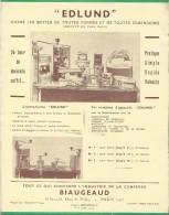 """Industrie"""" De La Conserve/Biaugeaud/Ouvres Boites/ """"EDLUND""""/Vers 1945   VP682 - Food"""