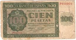 BILLETE DE ESPAÑA DE 100 PTAS 20/05/1936 SERIE P EN CALIDAD RC (BANK NOTE) - [ 3] 1936-1975 : Régimen De Franco