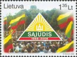 "Lithuania 2008 Mih. 972 Lithuanian Movement ""Sajudis"" MNH ** - Lituania"