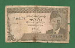 Pakistan Pakistani - 5 Rupee / PKR Banknote - No Date ( 1984 ) - P-38(1)  - Used Good Condition As Scan - Pakistan