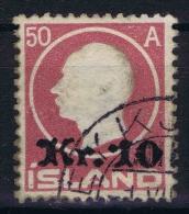 Islande Icland 1925 Yv  111/ Mi Nr 120  Used Obl - Gebraucht