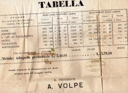 1878  LETTERA CON ANNULLO UDINE - Steuermarken