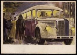 AUTOBUS  Typ O 5000 Carte Collection MERCEDES BENZ Année 1949 - BUS - RARE - Bus & Autocars