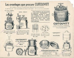 Marmite à Cuisson Sous Pression /CUITOUVITT/Percolateur/ Couscoussier/ Paris / Vers 1945  VP691 - Food
