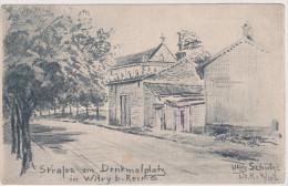 Witry, Strasse Am Denkmalplatz Bei Reims, Feldpost, Infanterie-Regiment 104, WWI, Frankreich - Reims