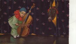 BAMBINI , PIERROT  ,  ASINO ,  VIOLINO    , Illustratore  Colombo - Colombo, E.
