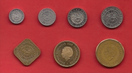 NETHERLAND ANTILLES, 7 Different Circulated Coins - Nederlandse Antillen