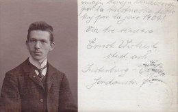 Germany PPC Atelier Wertheim Berlin INSTERBURG 1908 To Denmark LINGVO International ESPERANTO (2 Scans) - Esperanto