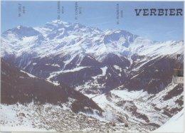SUISSE - VERBIER LA CHAINE DES COMBINS DEPUIS 2354M 10129 -  SCHWEIZ  SWITZERLAND SVIZZERA - VS Valais