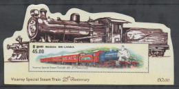 SRI LANKA, 2011,MNH, VICEROY SPECIAL STEAM TRAIN, S/SHEET - Trains