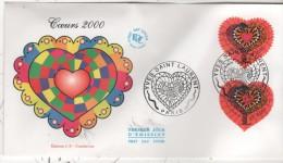 PARIS    Coeur 2000 Yves Saint Laurent  8/01/00 - Textil