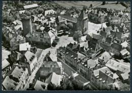 CPSM  ALLASSAC - Vue Aérienne Sur Le Château, L´Eglise Et La Place - Other Municipalities
