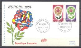Europa 1964 France FDC Enveloppe Premier Jour YT N°1430/1431 - 1964
