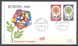 Europa 1964 France FDC Enveloppe Premier Jour YT N°1430/1431 - Europa-CEPT