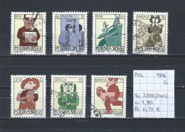 Polen 1996 - YT 3398/3402 Gest./obl./used - 1944-.... République