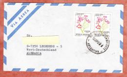 Luftpost, MeF Tabebuia Ipe, Entwertet Ambulante, Buenos Aires Nach Leonberg 1982 (69001) - Argentinien