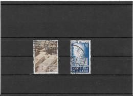 ITALIA REPUBBLICA XIX FIERA DI MILANO NR.DUE FRANCOBOLLI SERIE - 6. 1946-.. Repubblica