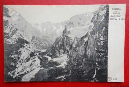 Gemmi - Blick Ins Gasternthal   - 1907 -   Recto/verso - VS Valais