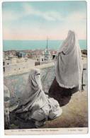 Alg�rie--ALGER--Mauresques sur les terrasses (femmes,Beau plan) n�10 �d   J.Geiser