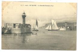 Cpa: 76 LE HAVRE Nouvelle Entrée Du Port (Phare, Voiliers) 1914  N° 2076 - Le Havre