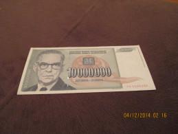 Yugoslavia 10.000.000 Dinara 1993.UNC - Yougoslavie