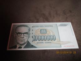 Yugoslavia 10.000.000 Dinara 1993.UNC - Yugoslavia