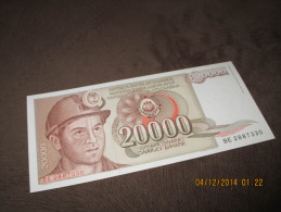 Yugoslavia 20.000 Dinara 1987.UNC P-95 - Yougoslavie
