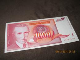 Yugoslavia 1000 Dinara 1992.UNC P-114 - Yougoslavie