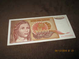 Yugoslavia 10.000 Dinara 1992.UNC P-116 - Yougoslavie