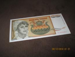 Yugoslavia 100.000 Dinara 1993.UNC NEUF P-118 - Yougoslavie