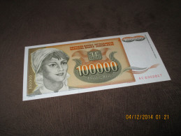 Yugoslavia 100.000 Dinara 1993.UNC NEUF P-118 - Yugoslavia