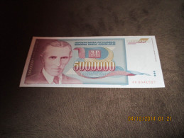 Yugoslavia 5.000.000 Dinara 1993.UNC P-121 Nikola Tesla - Jugoslavia