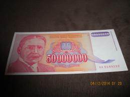Yugoslavia 50.000.000 Dinara 1993. UNC P-133 Mihailo Pupin - Yougoslavie
