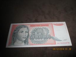 Yugoslavia 50.000.000 Dinara 1993.UNC P-123 - Yugoslavia