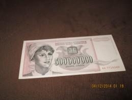 Yugoslavia 500.000.000 Dinara 1993.UNC P-125 - Yougoslavie