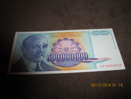 Yugoslavia 500.000.000 Dinara 1993. UNC P-134 - Yougoslavie