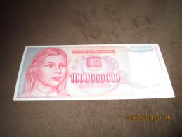 Yugoslavia 1.000.000.000 Dinara 1993. P-126 UNC - Yougoslavie