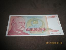 Yugoslavia 500.000.000.000 Dinara 1993.UNC P-137 - Yougoslavie