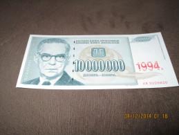 Yugoslavia 10.000.000 Dinara 1994.UNC - Yougoslavie