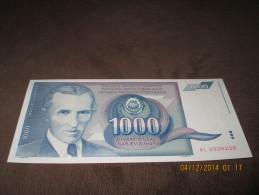 Yugoslavia 1000 Dinara 1991. UNC P-110 - Yougoslavie