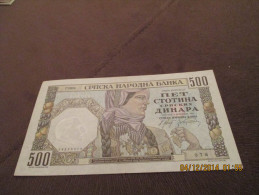 Jugoslavia 500 Dinara 1941 AUNC - Yougoslavie