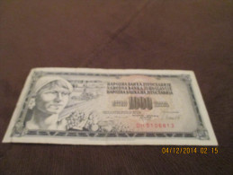 Yugoslavia Banknote, For Catalogue Number And Condition, See Scan! - Yugoslavia